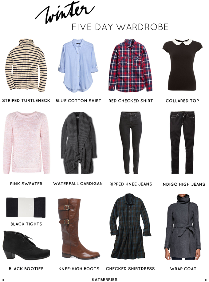 Travel Capsule Wardrobe 13 Pieces For 5 Days Capsule