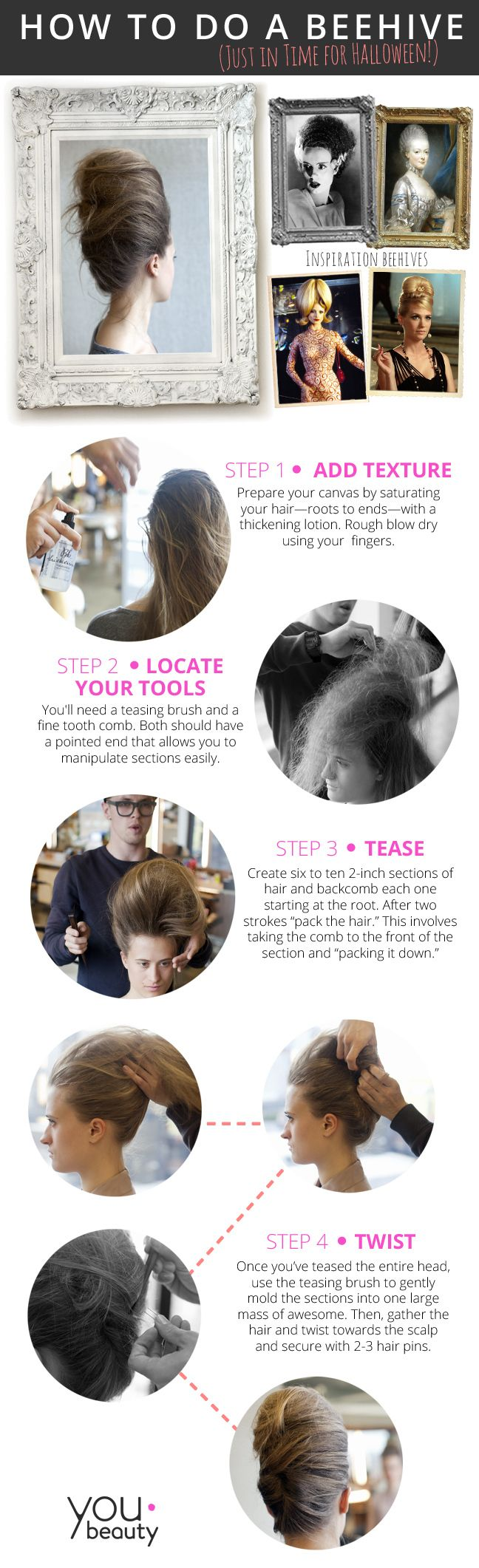 how to do a beehive for halloween - youbeauty | hair