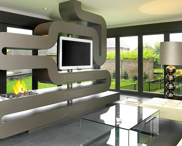 unique house interior design. Ultra Stylish and Unique Interior Design Snake Fireplace Guide to Style Pt  1 of 3 Contemporary Interiors Tell Your