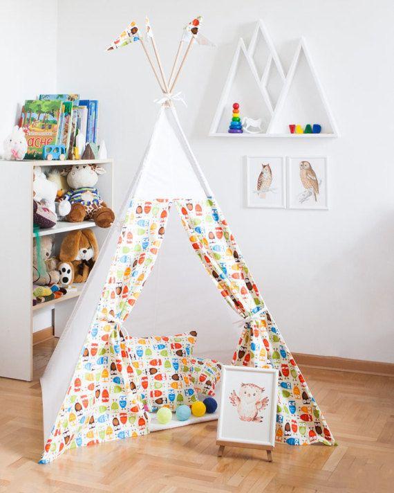 Teepee tipi vigvam wigwam play tent Baby Owls  sc 1 st  Pinterest & Teepee tipi vigvam wigwam play tent Baby Owls | Kids vigvams ...