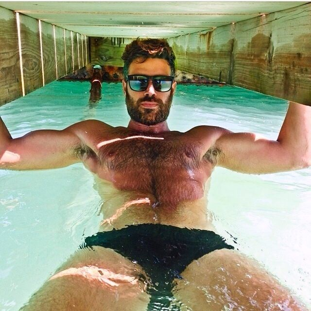 Beard in the water