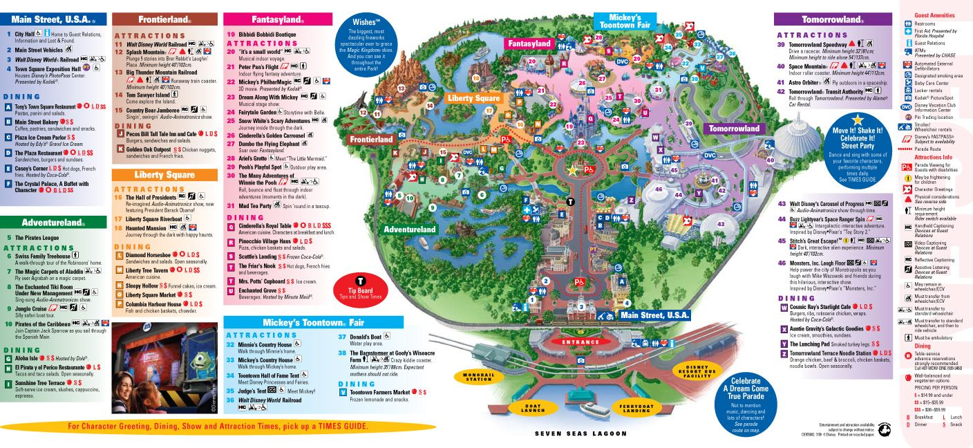 Animal Kingdom Map 2015