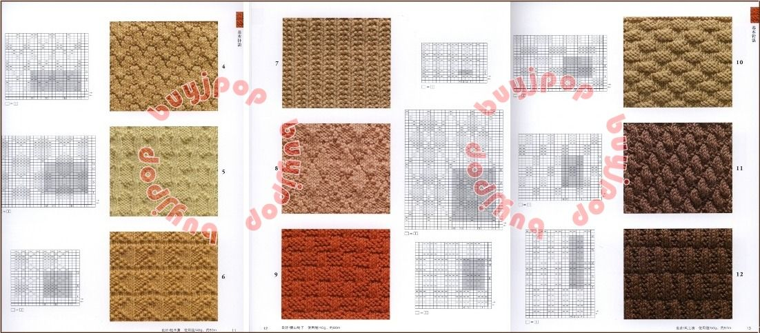 Chinese Japanese Knit Craft Pattern Book 125 Knitting Pattern ...