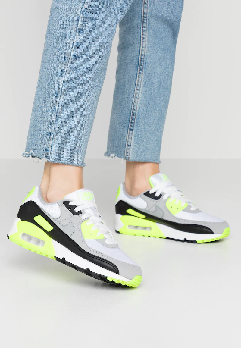 AIR MAX 90 - Trainers - white/particle grey/volt/black/light ...