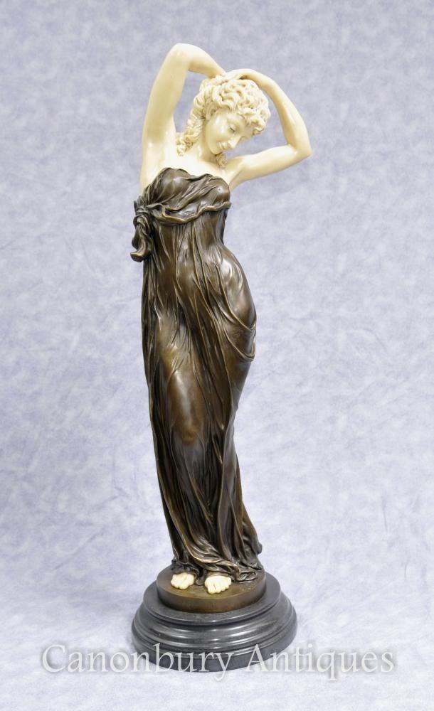 art deco bronze seductive women figurine statue by gory art deco bronzes pinterest. Black Bedroom Furniture Sets. Home Design Ideas