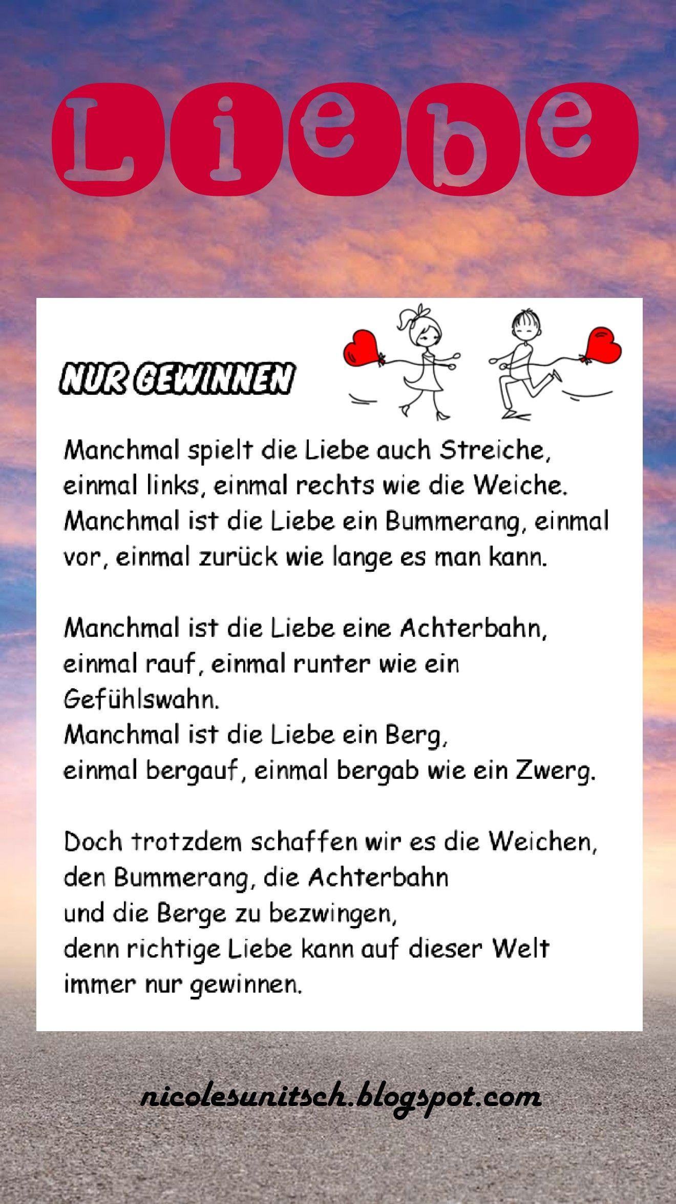 Gedichte Von Nicole Sunitsch Autorin Gedichte Und Spruche Liebesgedicht Worter