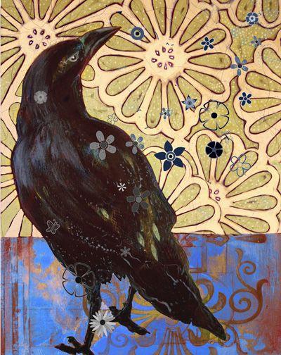 Raina Gentry Raven Print, Raven Blues, http://www.raintree-studios.com/ravenblue.html