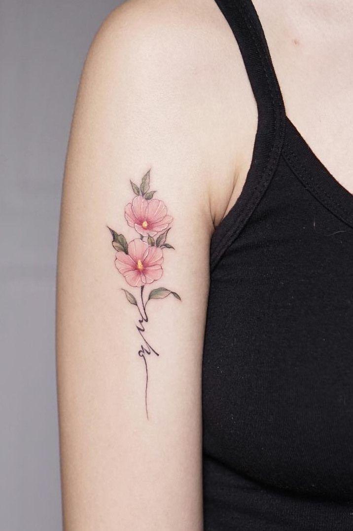 720d92997 Flower Tattoos For Girls and Women: wildflower tattoo on arm; arm tattoos; flower  tattoo on arm; floral tattoos, flower tattoos for women.