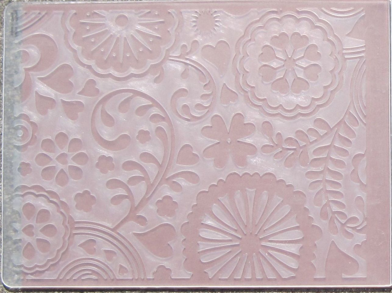 many different ways to use embossing folders