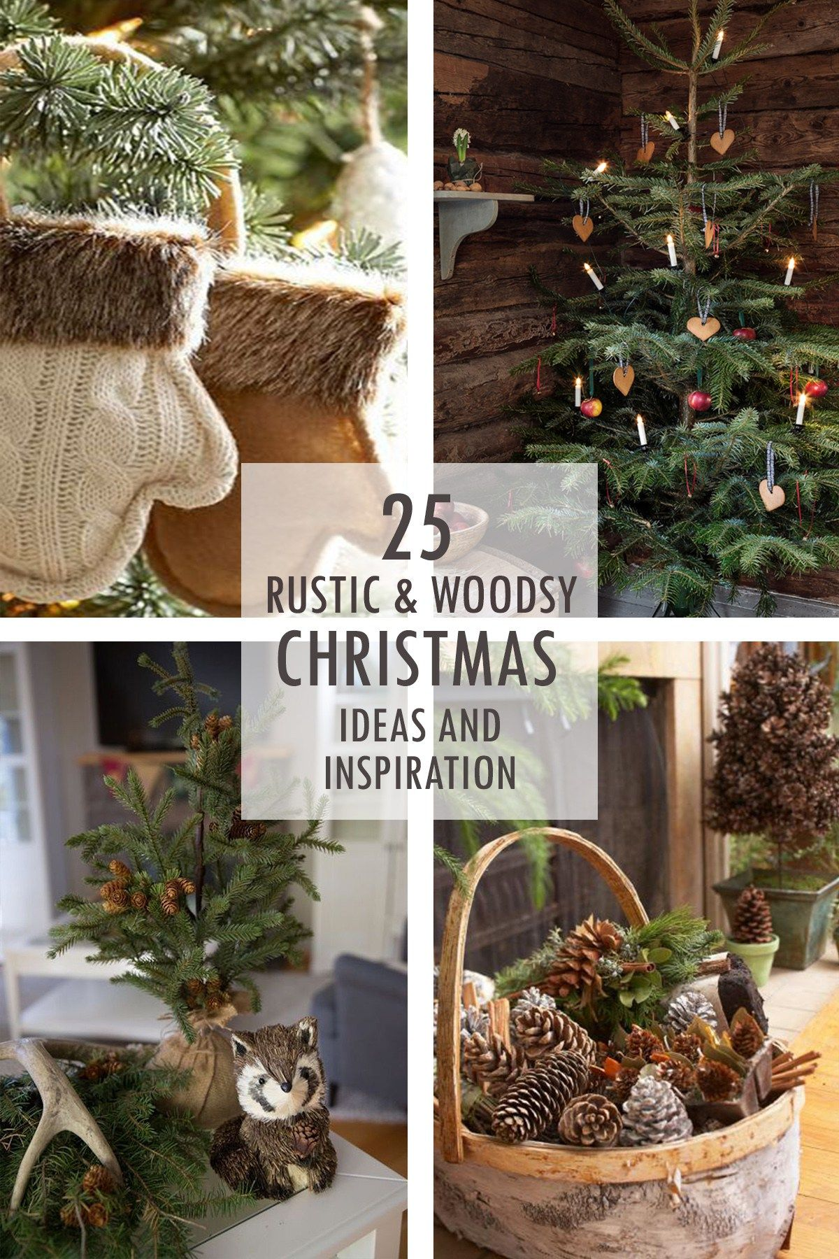 Rustic And Woodsy Christmas Ideas And Inspiration Tidbits Outdoor Christmas Decorations Outdoor Christmas Pretty Christmas Decorations