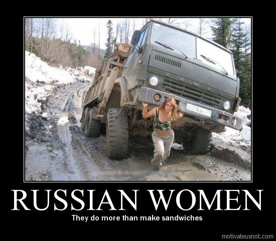 Russian Women They Do More Than Make Sandwiches Funny Pictures Russian Road Meanwhile In Russia