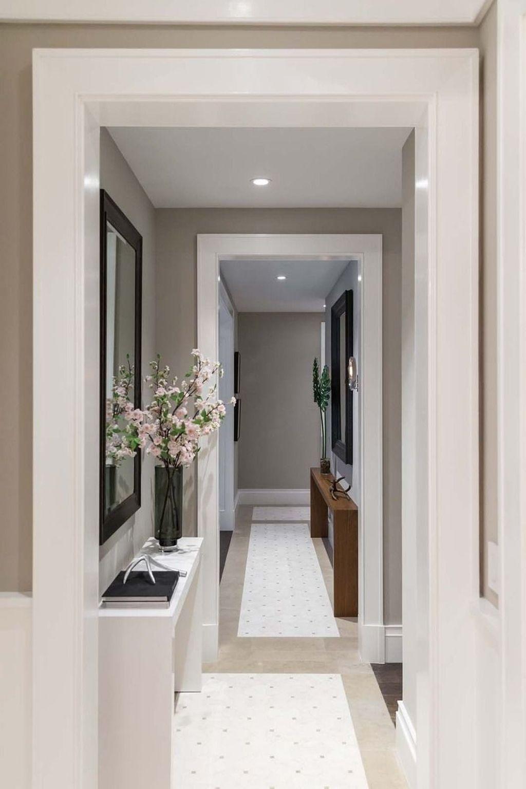 30 Astonishing Home Corridor Design For Your Home Inspiration In 2020 Hallway Designs Contemporary Hallway Narrow Hallway Decorating