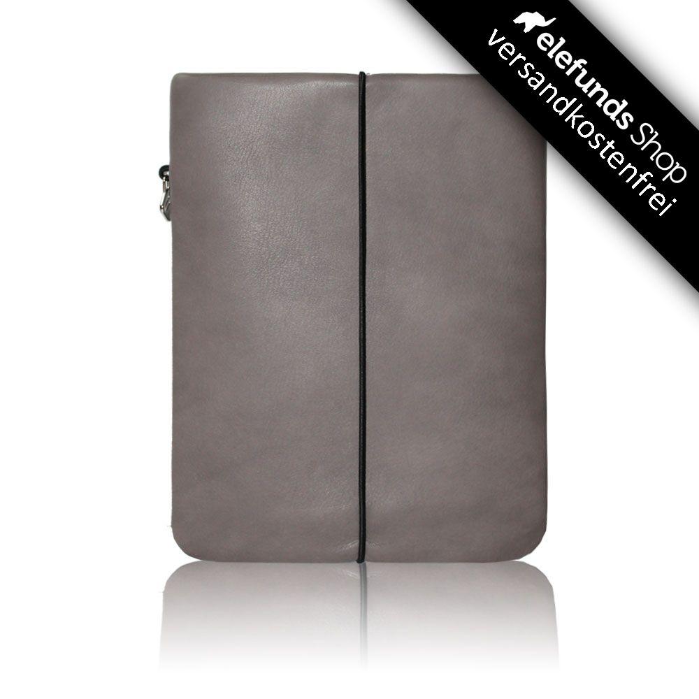 #Vandebag - #iPad Skin - grau - echtes Rinderleder und handgefertigt - 93,00€ - Versand kostenlos