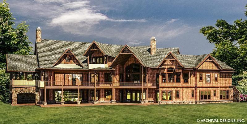 Kettle Creek Ranch Rustic Home Plan Luxury Home Blueprints Archival Desi Archival In 2020 Mountain Ranch House Plans Mountain House Plans Luxury House Plans