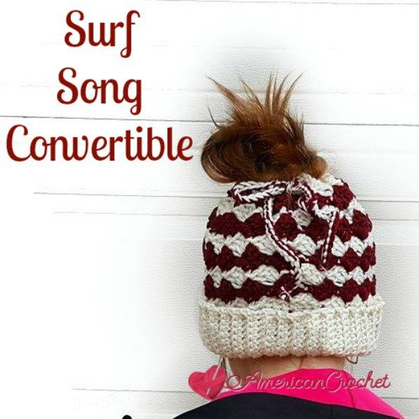 Free crochet pattern: Surf Song Convertible (hat and cowl) by ...