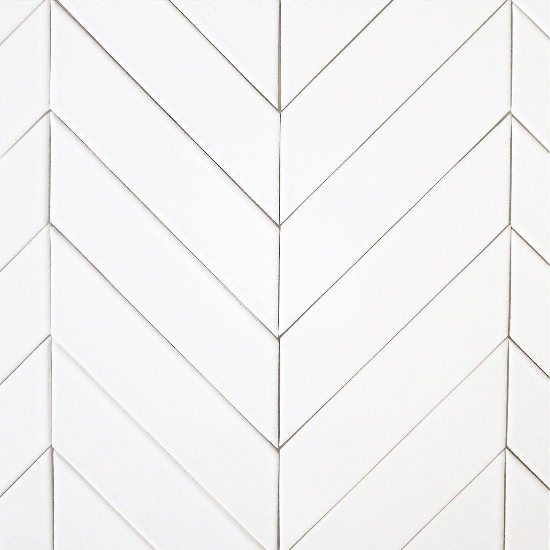 Kiln Ceramic Chevron Tile