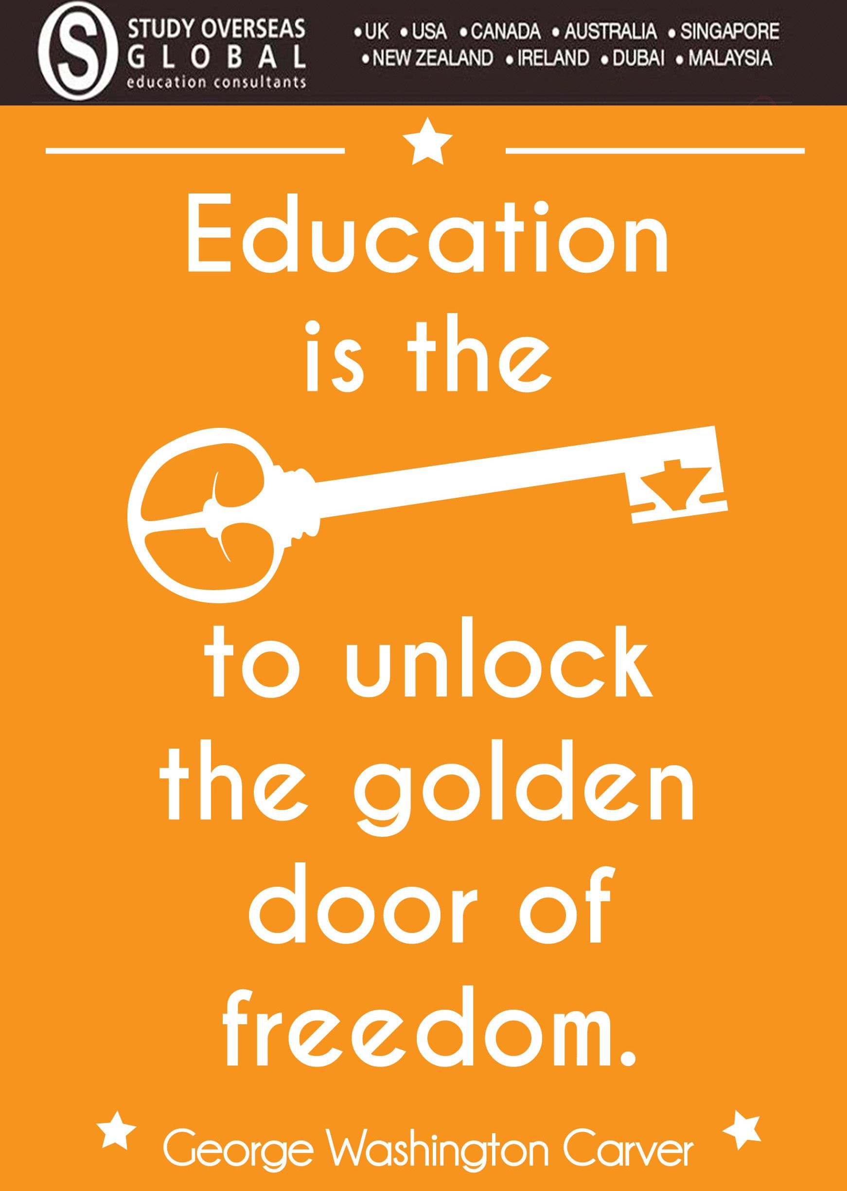 #educationquote #studyoverseas Motivational Post