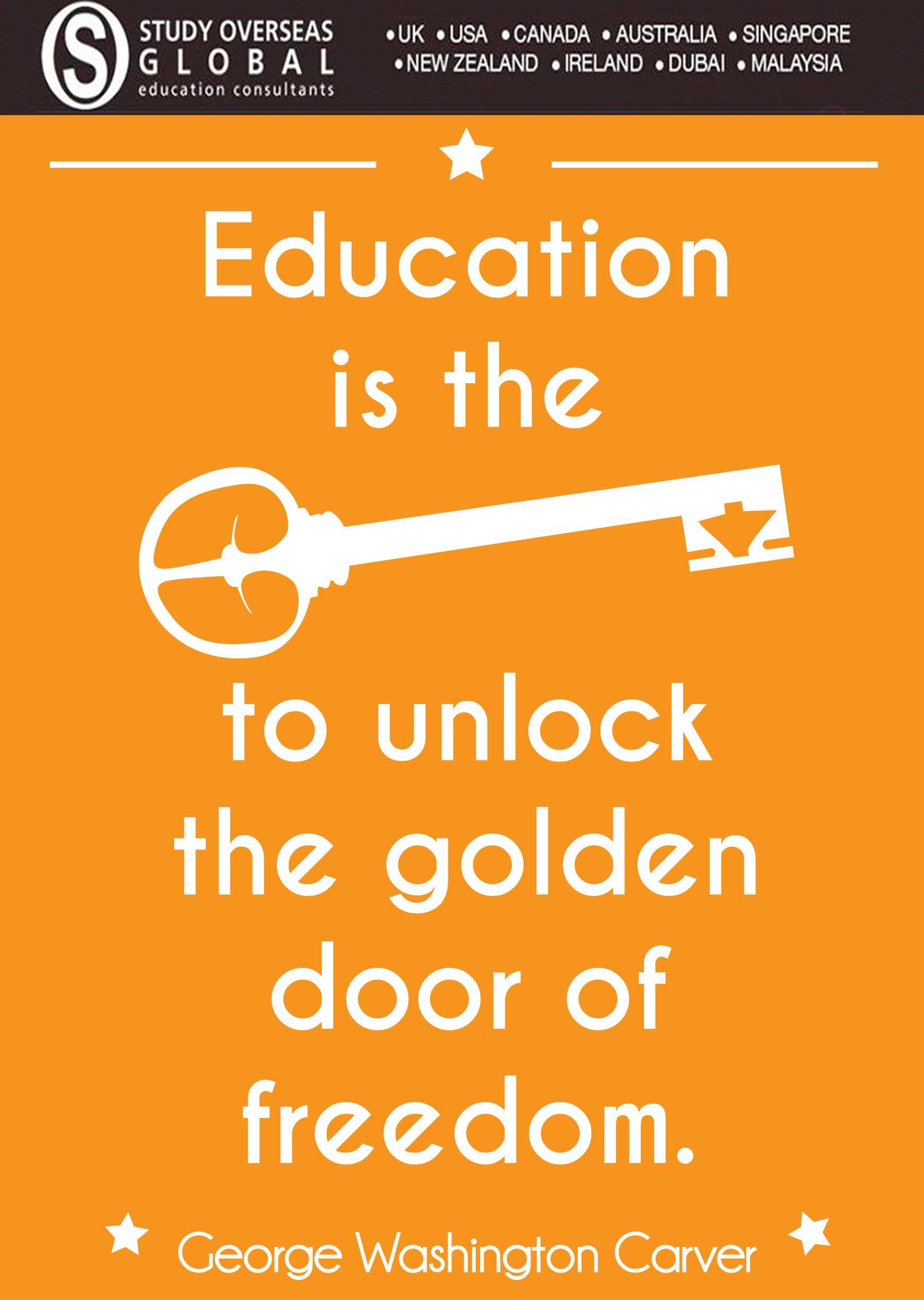 #educationquote #studyoverseas Motivational Post