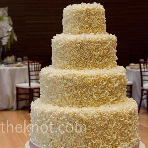 Chocolate Shavings Wedding Cake