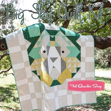 Big Sky Quilt Kitfeaturing Big Sky By Annie Brady Sky Quilt Animal Baby Quilt Bear Quilts