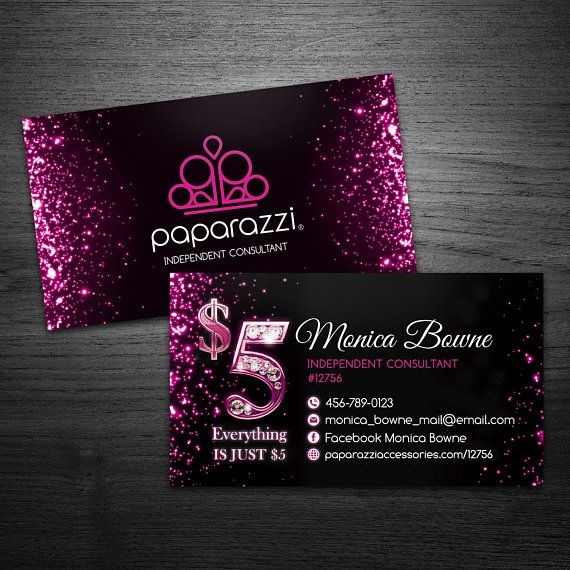 Paparazzi Business Cards Card Jewelry Accessories