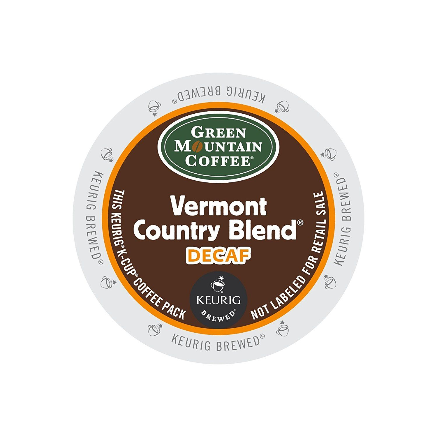 Green Mountain Coffee Vermont Country Blend Decaf KCups