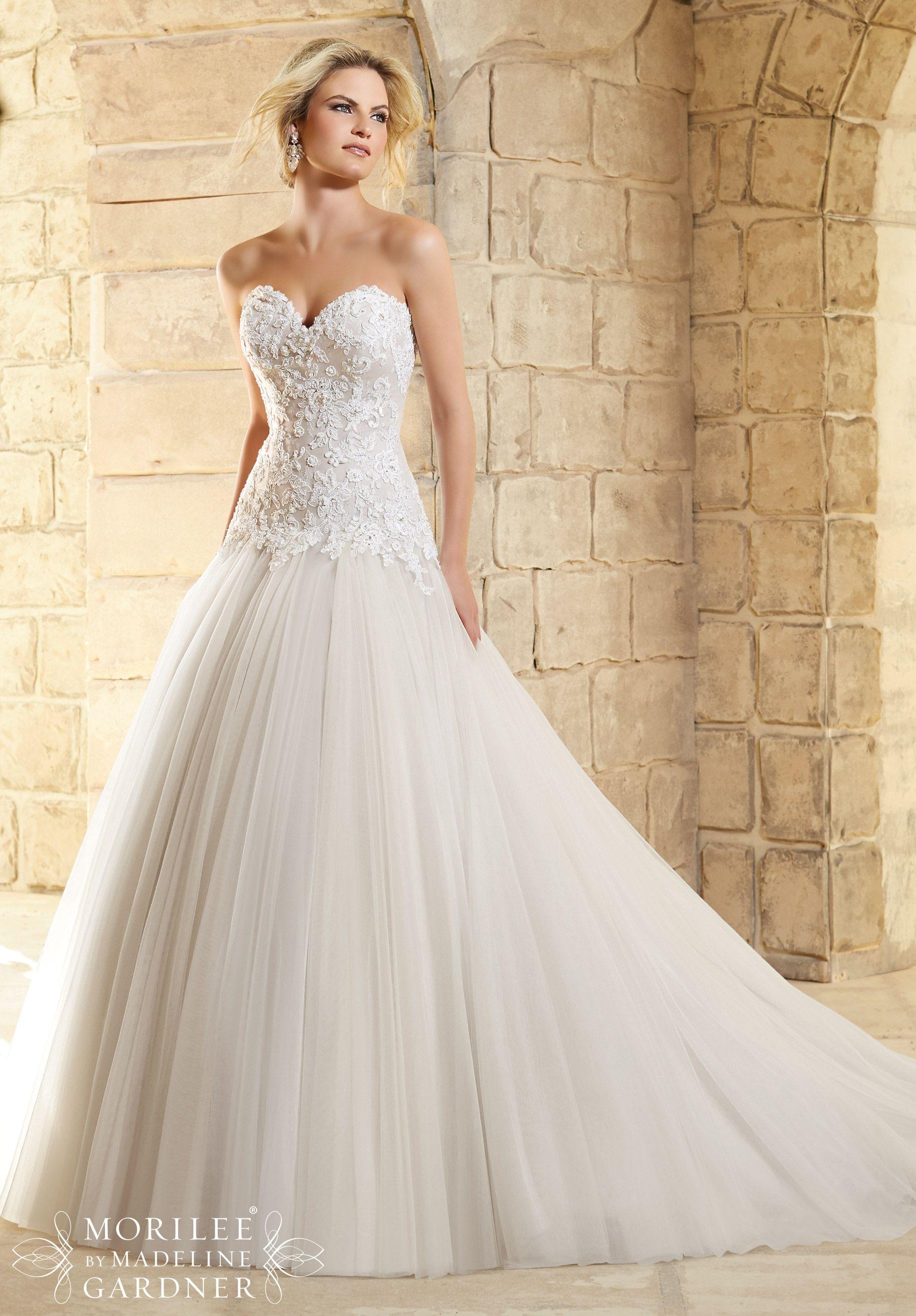 Dress Style 2771 Drop Waist Wedding Dress Ball Gowns Wedding Wedding Dresses [ 2636 x 1834 Pixel ]