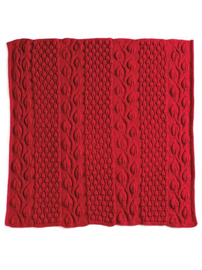 Autumn Blaze Knit Afghan   Cable knitting patterns ...