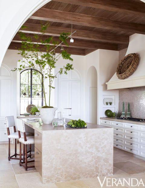 Inspirational mediterranean kitchen design in new california home exposed beam ceilings beams ceiling also veranda magazine verandamag on pinterest rh