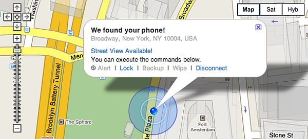 Cell Phone Locator Map on