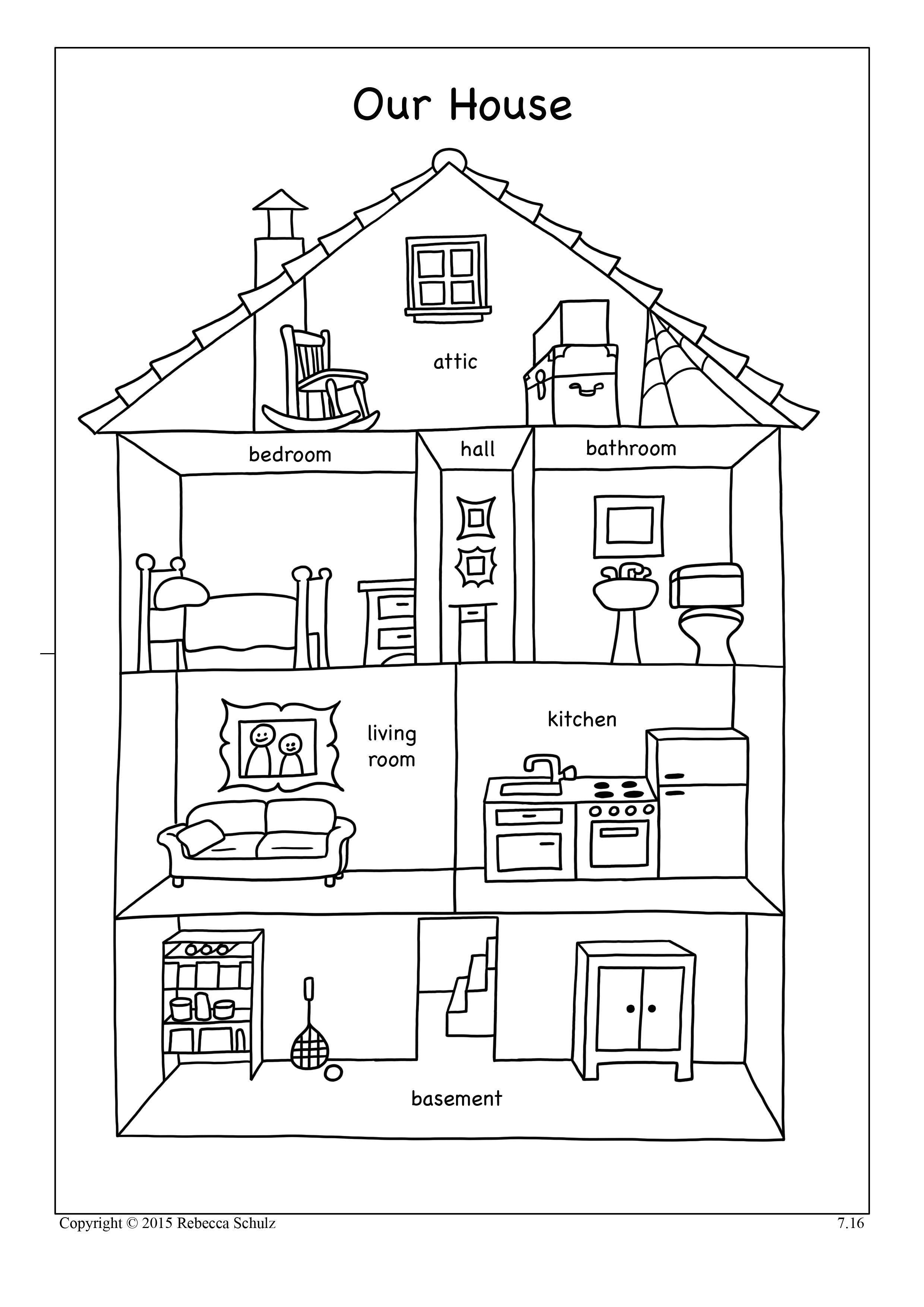 Resultado de imagen para worksheets parts of the house ...