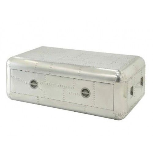 Aluminum Rectangle Aircraft Coffee Table Trunk in 2020 | Coffee table trunk, Coffee table ...