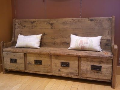 Bench With Drawers No Instructions Just Picture And Link To Purchase No Price But I Lik Rustic Storage Bench High Back Dining Bench Storage Bench Seating