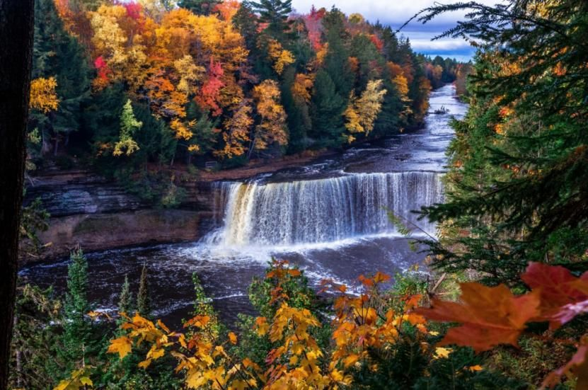 Fall Colors Around Tahquamenon Fall Travel Weather Underground State Parks
