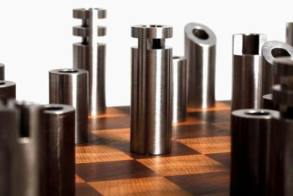 originelle diy schachfiguren aus schrauben muttern und. Black Bedroom Furniture Sets. Home Design Ideas