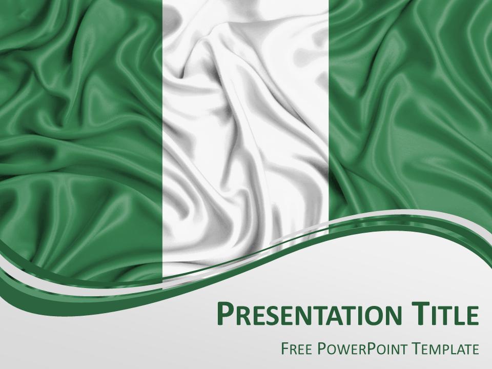 Nigeria Flag Powerpoint Template Presentationgo Com Nigeria Flag Powerpoint Templates Nigeria