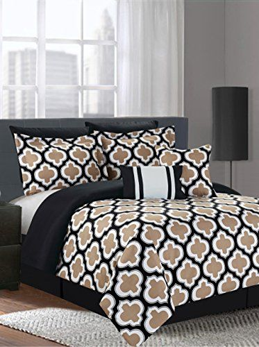 """www.myhabit.com  Bold with style, this multi-piece comforter set comes with all the pieces to create a cozy and comfortable look; set includes comforter, (2) pillow shams, (2) pillow cases and 12"""" x 18"""" and 18"""" x 18"""" decorative throw pillows"""