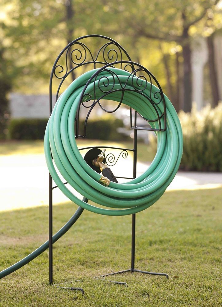 Garden Hose Holder Stand Metal Storage yard Organizer Outdoor Hook Lawn Patio is part of lawn Space Patio -