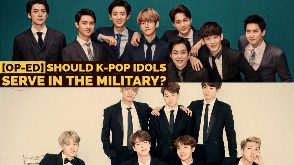 Op Ed Should K Pop Idols Serve In The Military Https Www Allkpop Com Article 2018 08 Op Ed Should K Pop Idols Serve In The Militar Pop Idol Kpop Idol Idol
