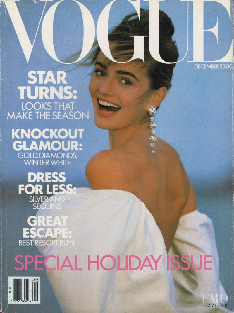 HR - Paulina Porizkova featured on the Vogue USA cover from December 1989