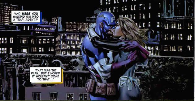 Captain America Kiss Captain Marvel