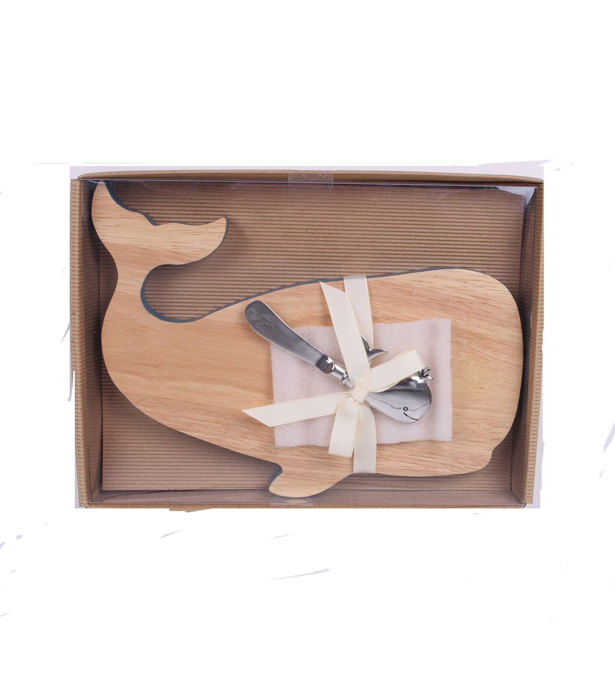 Escape To Paradise Cutting Board With Spreader Whale Icon Set | Summer Home  Decor |