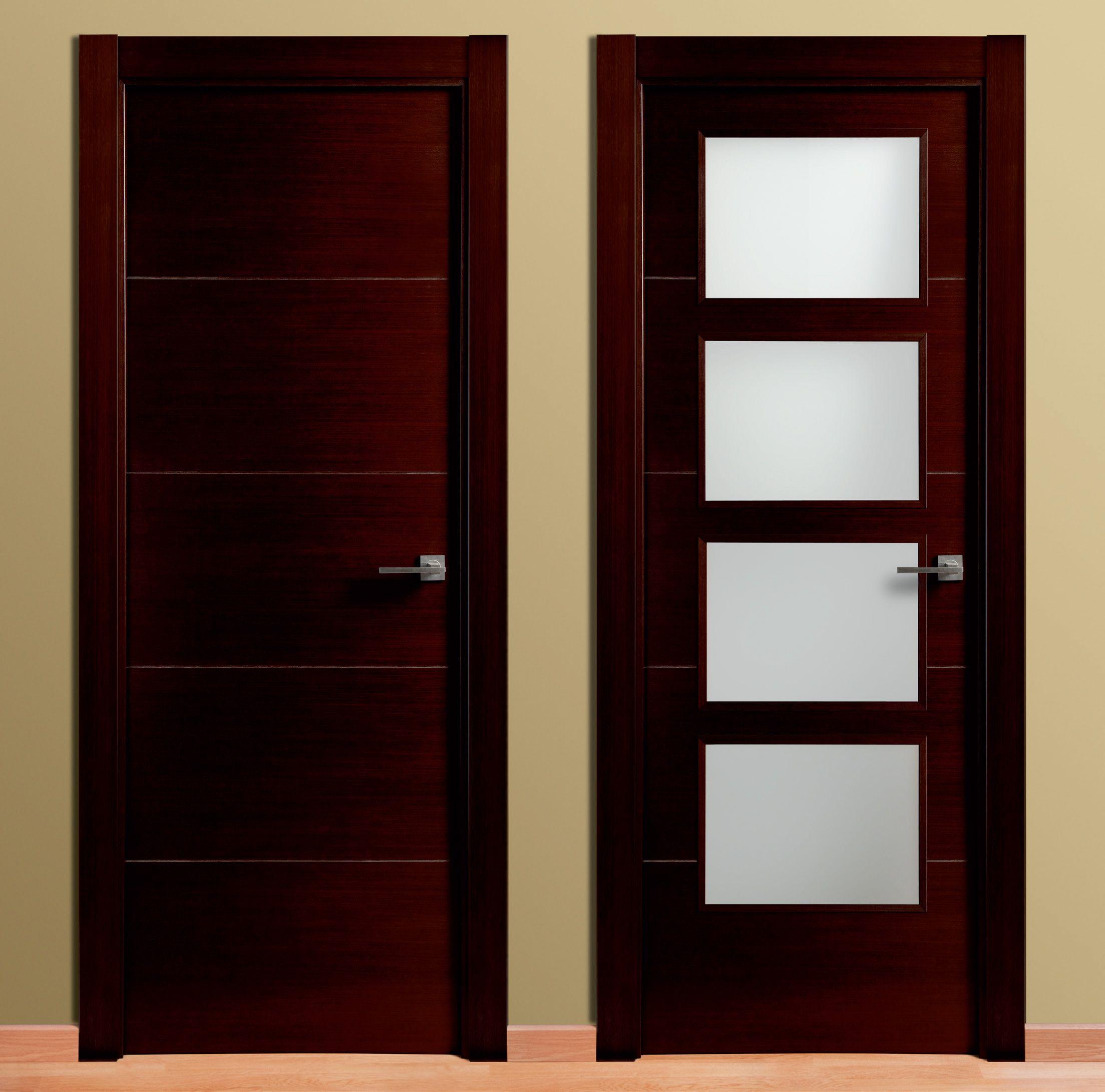 Puerta 4 ranuras en madera puertas carsal socios aitim for Modelos de puertas principales