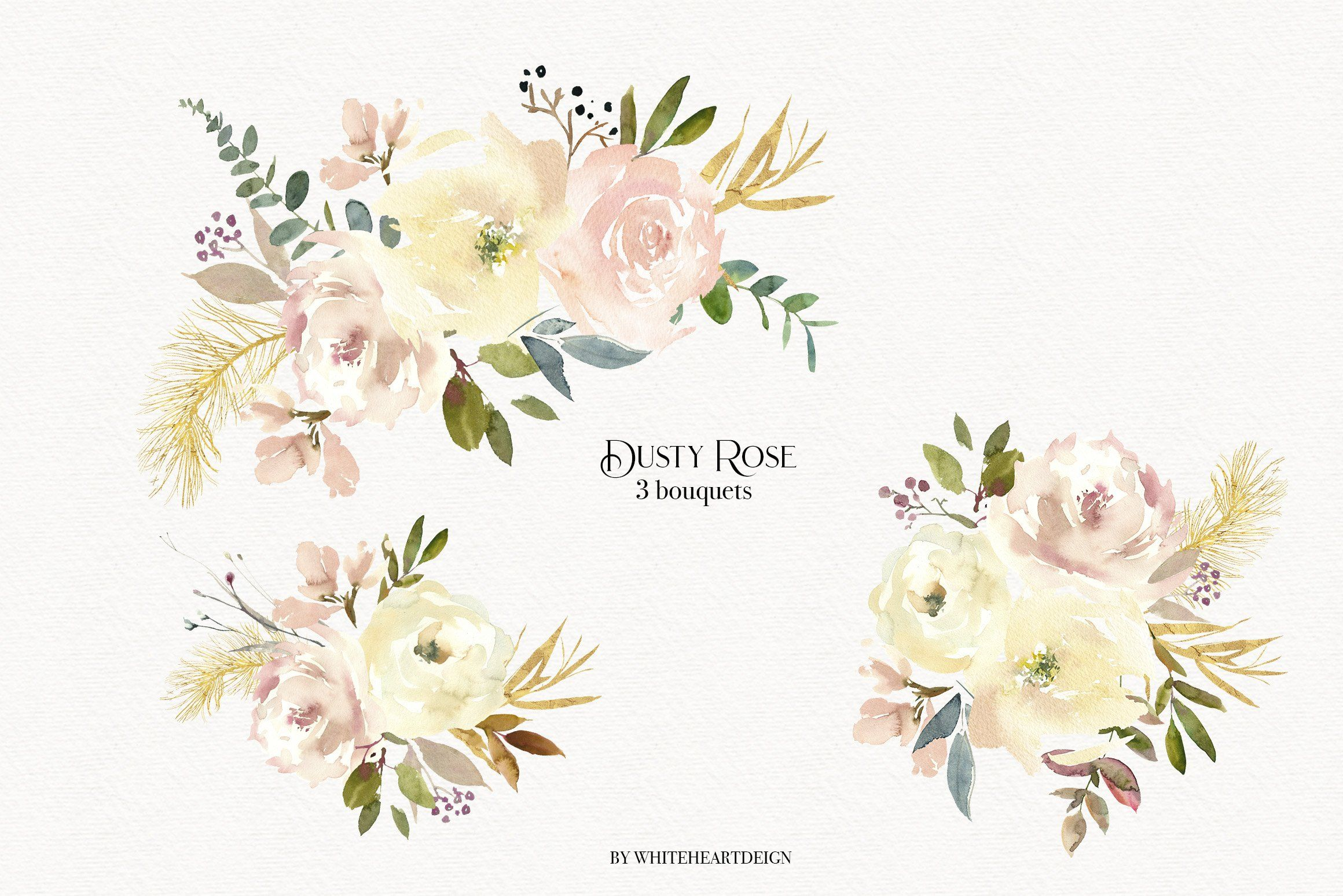 Dusty Rose Watercolor Clipart Sponsored Paper Projects Logo
