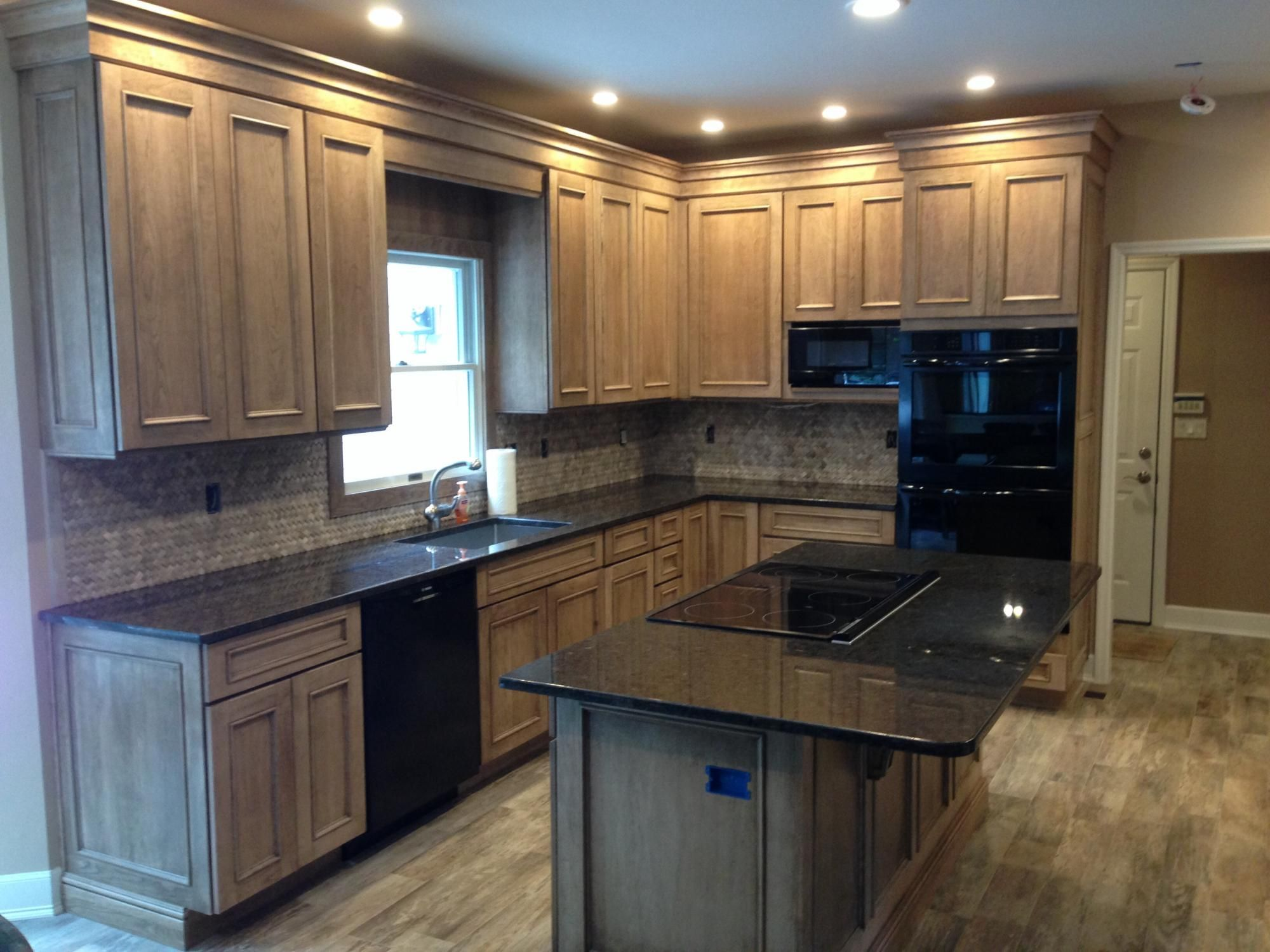 Kitchen and den renovation mdf fireplace tv designs pinterest