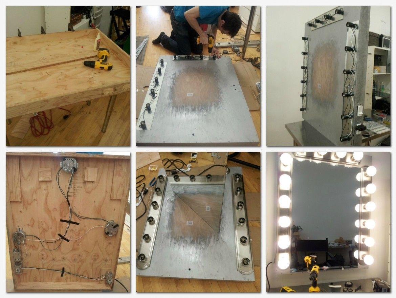 Ideas Making Vanity Mirror With Lights Diy