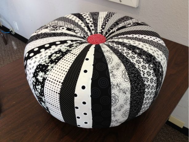 I Made This Tuffet From A Class At The Wild Rose Quilt Shop In