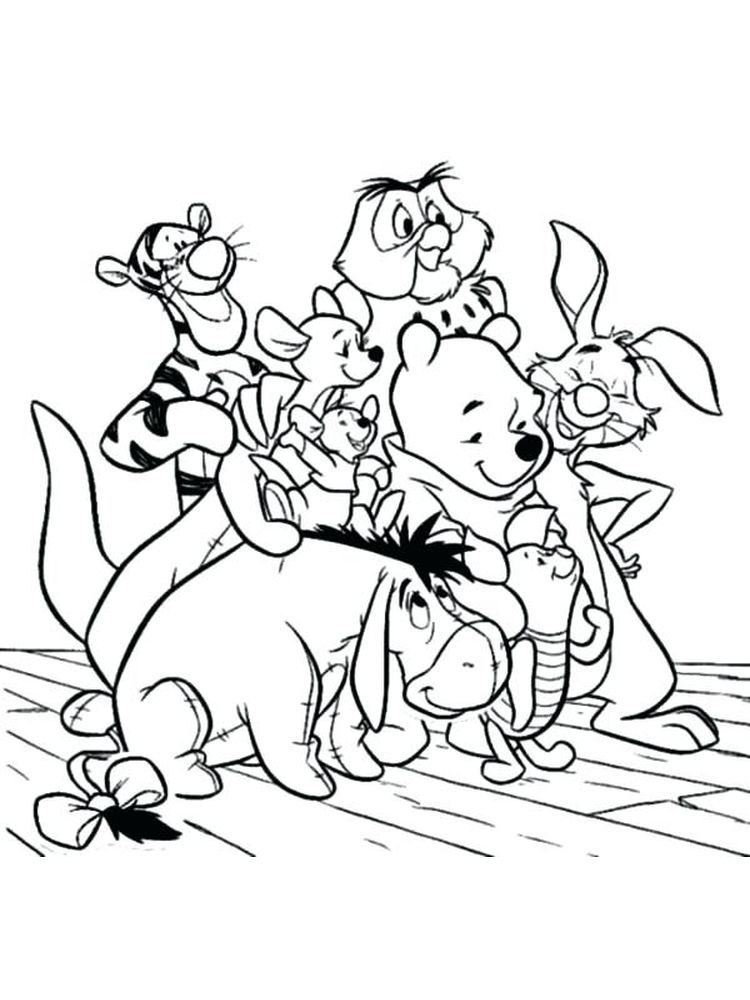 Winnie The Pooh Coloring Pages Printable Free Coloring Sheets In 2020 Disney Coloring Pages Cartoon Coloring Pages Cute Coloring Pages