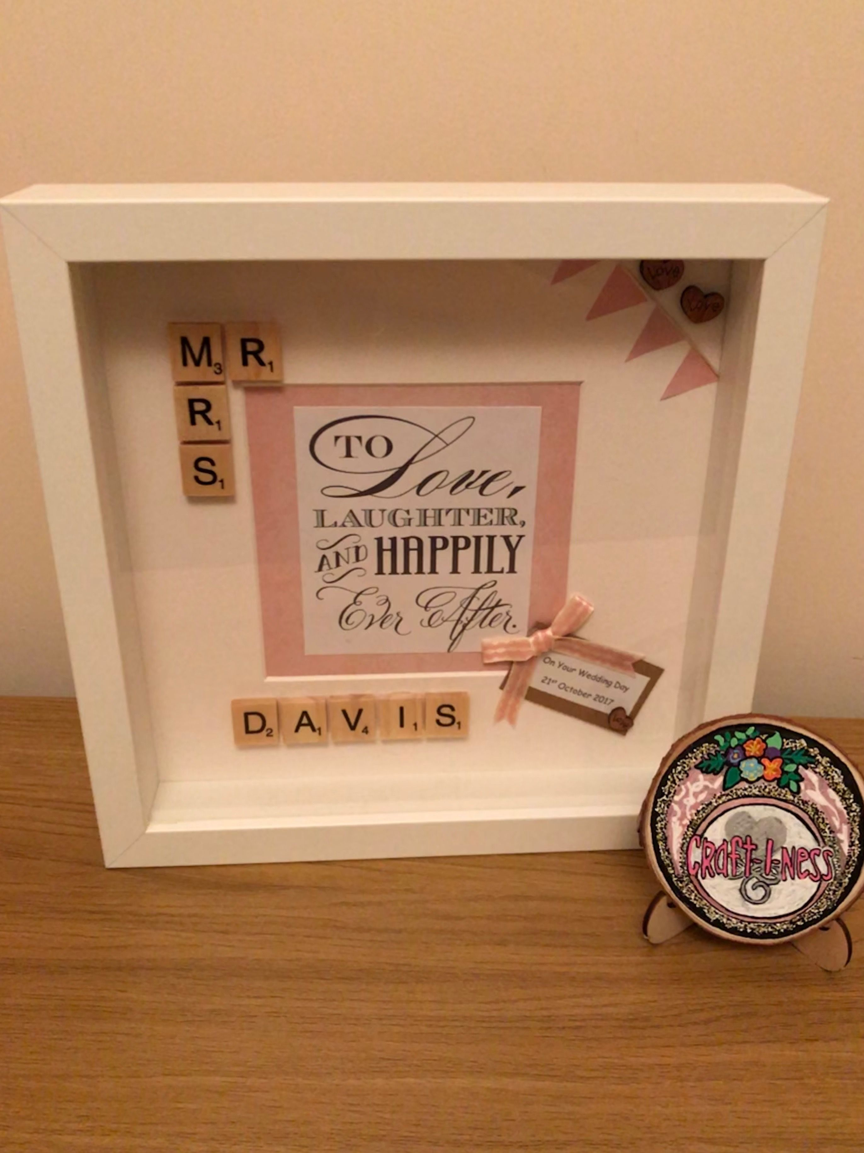 Love Quote Picture Frames Personalised Wedding Frame  Handmade Scrabble Frame With Love