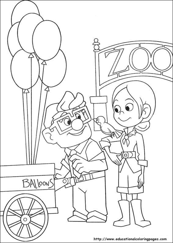 Pixar up coloring pages 05